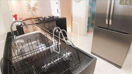 Cozinha com bancada granito em L