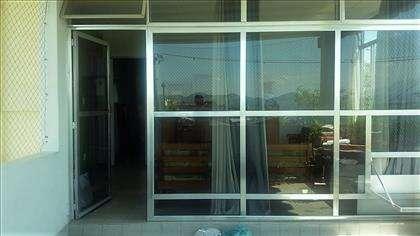 Parede de vidro entre Sala e Varanda 2 andar