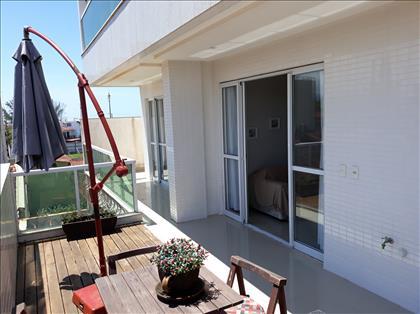 Vista da varandapara a sala e quarto suite