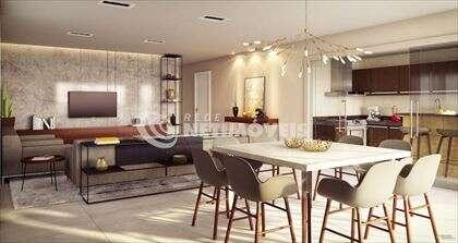 Sala com cozinha integrável