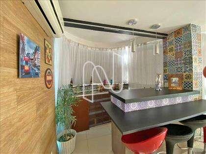 Área gourmet integrada à sala