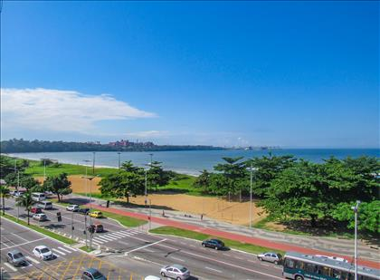 Vista permanente para mar de Camburi