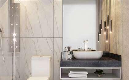 Banheiros opção de acabamento -  ilustrativo