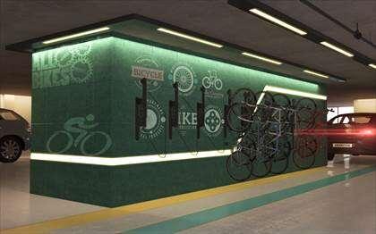 Bicicletário-  imagem ilustrativa