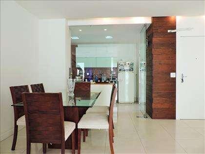 Sala de jantar/estar: cozinha integrada