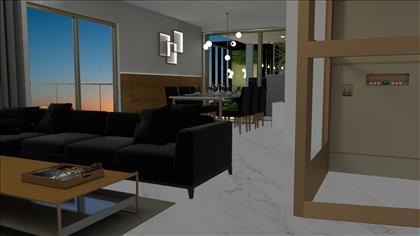 Sala dois ambientes - Projeto