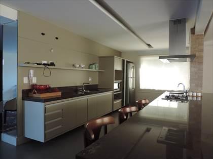 Cozinha do espaço gourmet