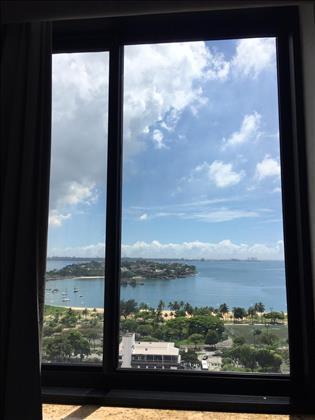 Vista da janela do primeiro quarto.