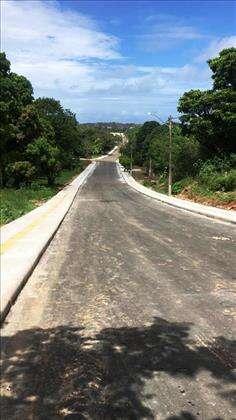 Rua asfaltada recentemente fevereiro de 2020