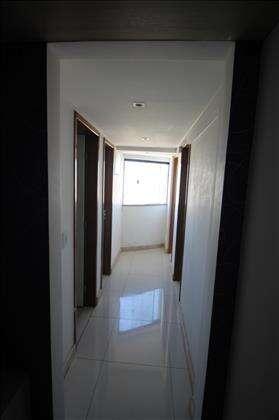 Corredor de acesso aos quartos na cobertura