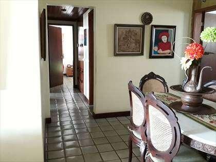 Sala de jantare circulação para quartos